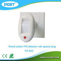 Infrared mini pir sensor switch bs010 with special plug bracket PA-82D, CE&ROHS