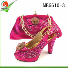 ME6610 Queency Italian Designer New Fashion Clutch Hand Bag Matching Dress Shoes and Accessories Size 7-10