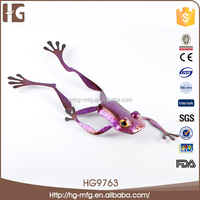 Good quality metal frog garden decoration 37x16x6CMH HG9763 the virgin mary decoration made in China