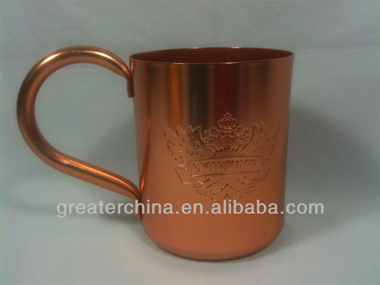 stainless steel copper plated mug