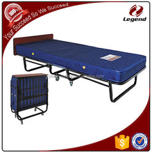 Blue clor rollaway foldable guest bed with metal frame