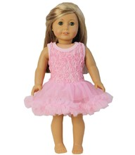 "18"" American Girl Doll Romantic Light Pink Rosettes Party Dress Clothes"