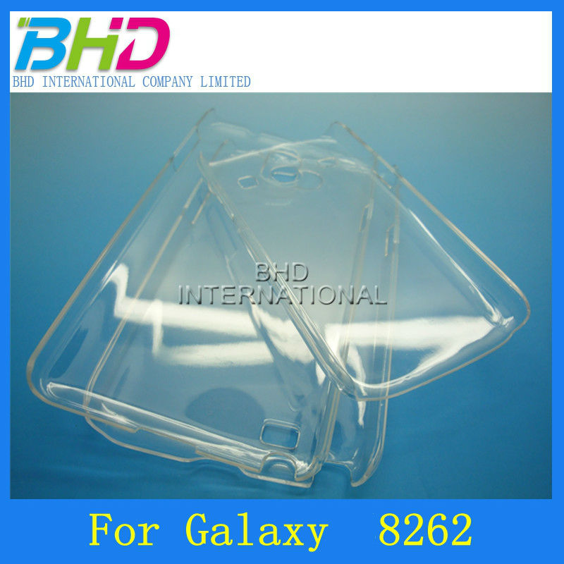 Clear mobile phone hard case for Samsung galaxy core I8260 I8262
