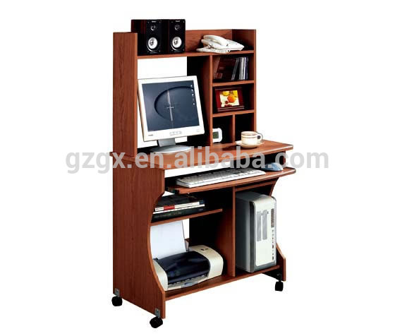 Europe Home Furniture Type and No Folded computer table with bookshelf
