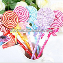 TK-03 New Cute Kawaii Cartoon Ballpoint Pens Lovely Plastic Lollipop Ball Pen Korean Stationery