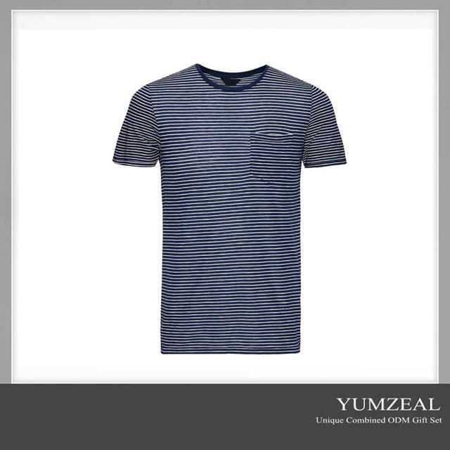 new style fancy brand stripe new model men's t-shirt