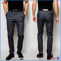 Professional Supplier Wholesale Man Trousers Latest Mens Dress Shirt and Pants / Check Trousers for Men