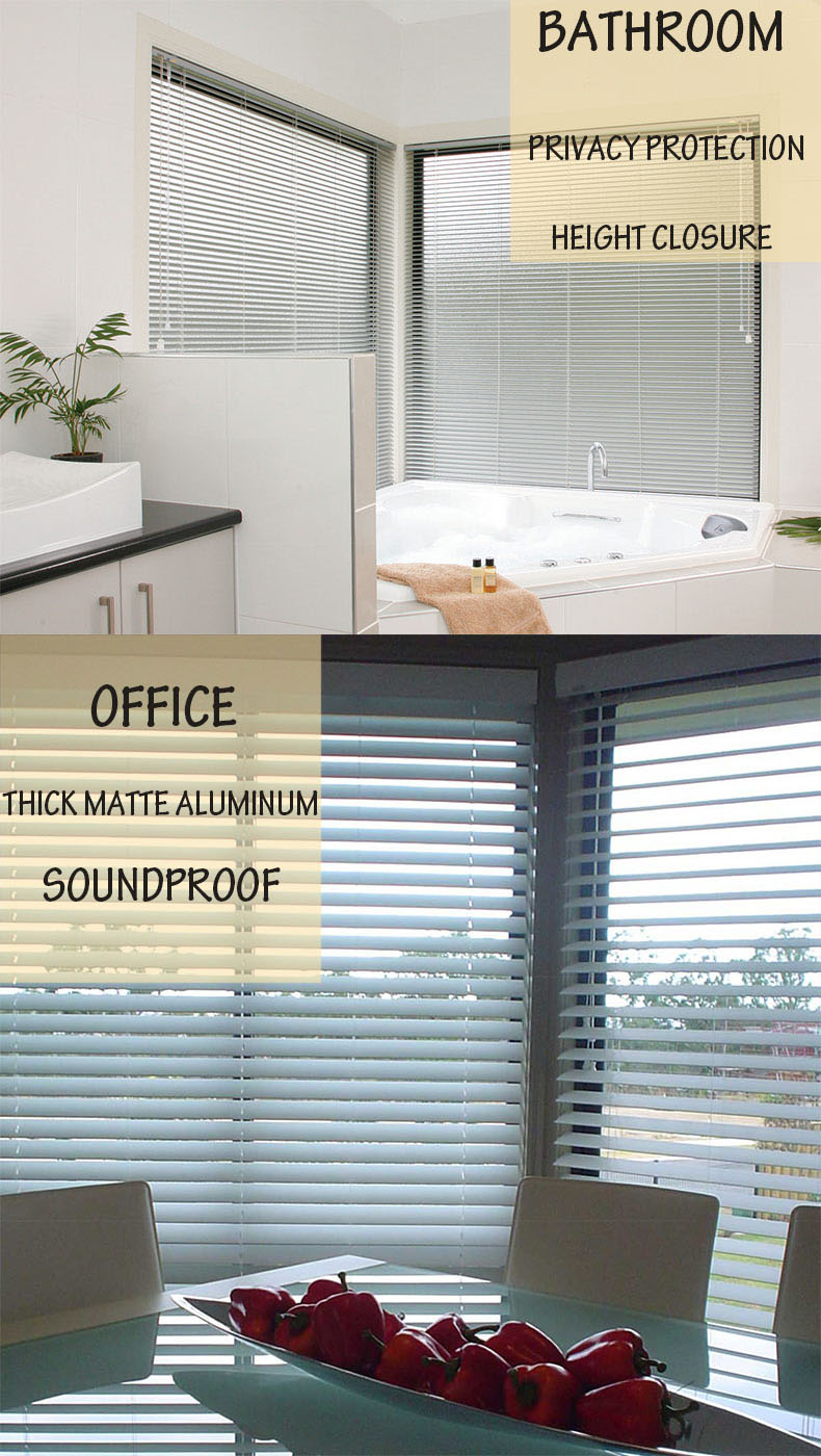 Factory Direct Supply High Quality Customized Horizontal Waterproof Aluminum Venetian Window Blinds