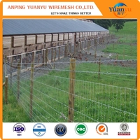 High tensile metal livestock farm fence panel / pig fence