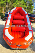 CE korea PVC mterial 8 persons 4.3m Whitewater inflatable raft boat