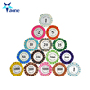 Casino clay poker chips high quality custom round custom clay poker chips