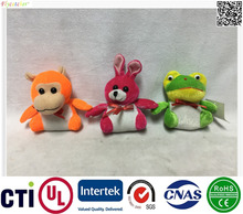 new cheap hot wholesales plush toys 3 animals assorted, monkey, rabbit, and frog