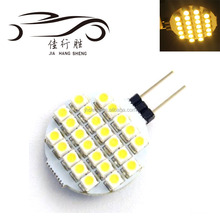 High Quality Auto Led G4 24SMD 1210 Bulbs Lamp Warm White Car Cabinet Boat Lamps 12V DC 6000K