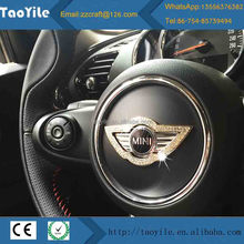 Car diamond decorative ring steering wheel cover for mini cooper cars