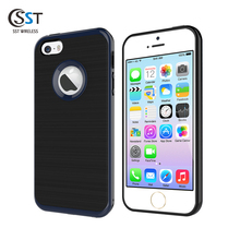 Factory direct supply brush case for iphone 5 se ,fast delivery tpu pc cover for iphone 5s ,hybrid case for iphone5