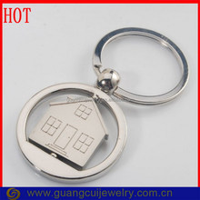 New arrival rotatable house shape keychain/key chain