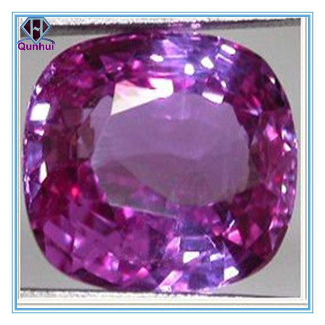 purple pink arc-square shaped cz stone