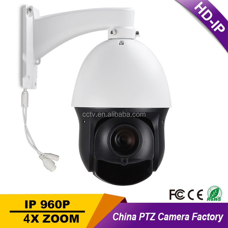 "CCTV Security Outdoor IP66 4"" Mini Size Speed Dome PTZ Camera PoE HD IP 960P 1.3MP Megapixels 4X Zoom ONVIF Auto Focus P2P"