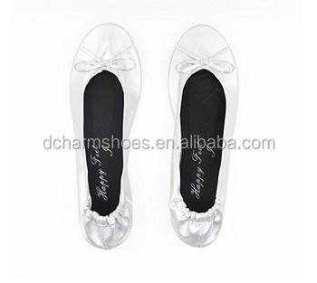 Wholesale 2017 Hottest Fashion Women's Shoes Ballet Flats Portable Fold up Shoe Ballerina Flat Shoe made in China