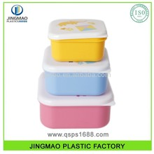 3PCS small food container Set contenitore per alimenti tondo ermetico