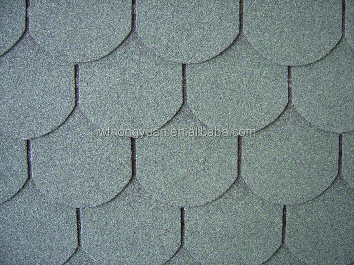 colorful asphalt roofing shingles