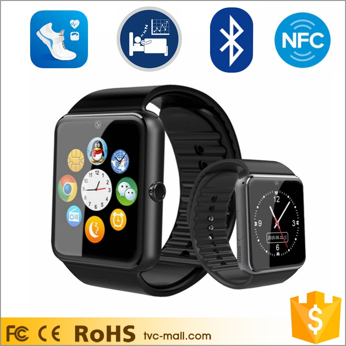 GT08 2016 Wholesale CE Bluetooth SIM Camera Android Wear Smartwatch Phone Smart Watch