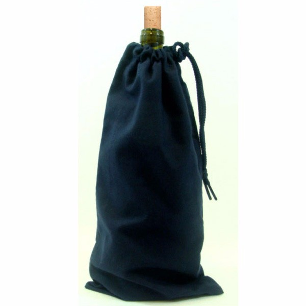 cotton fabric canvas drawstring package single wine bottle bag