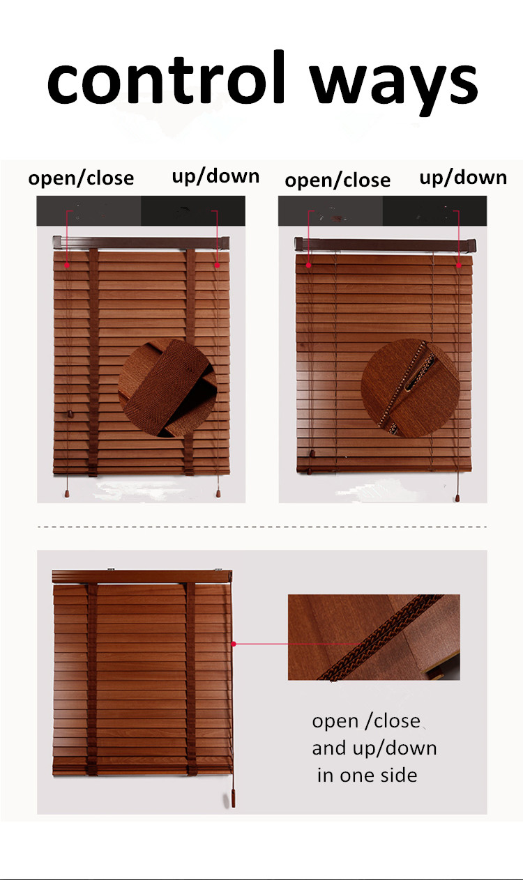 2 inch High Quality Basswood Wooden Venetian Blinds