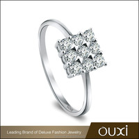 OUXI cheap star square designs sterling 925 silver ring for girl Y70067