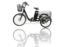"250W E tricycle 24"" Electric Three Wheel Bike Adult Big Tricycle Lithium Battery lcd dispaly"
