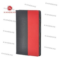 High quality Red and black PU leather interval case for ipad