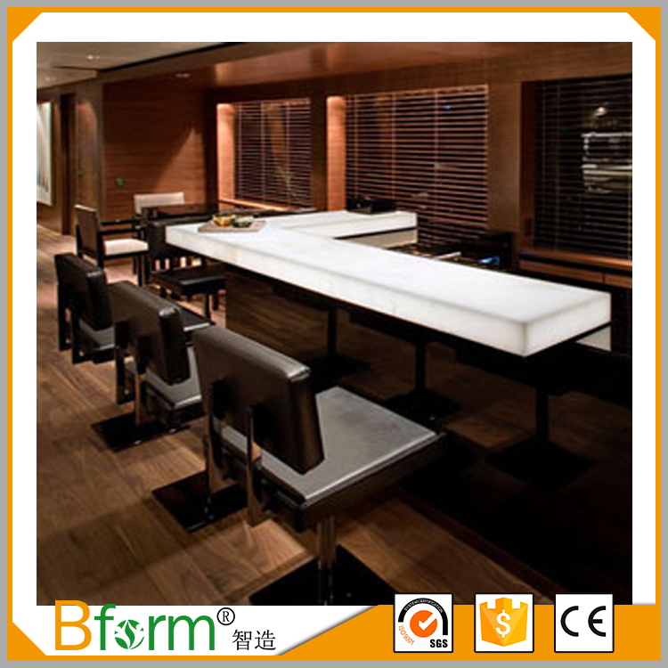 China Supplier Acrylic Panel Modern Bar Counters for Sale