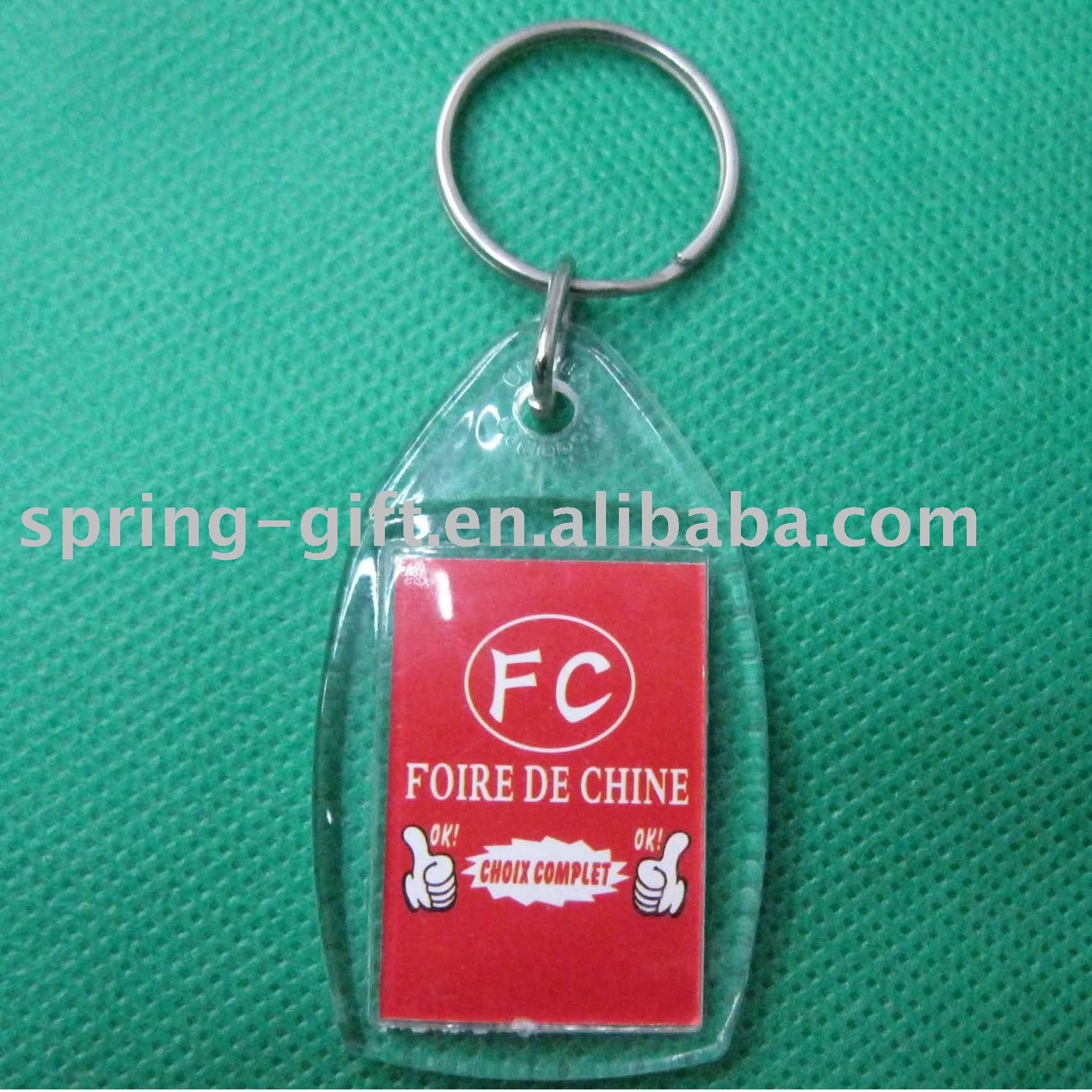 acrylic blank key ring and custom logo acry keyring