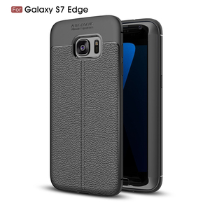 Luxury skin textured TPU soft rubber Armor cellphone case with shock absorption protection phone case for Samsung S7 edge