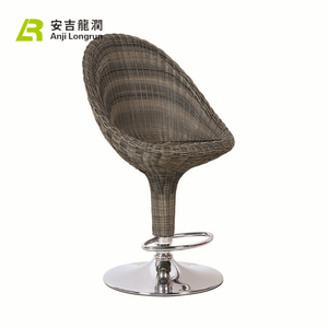 unique design elegant strongly high back chair Rattan bar chair for living room
