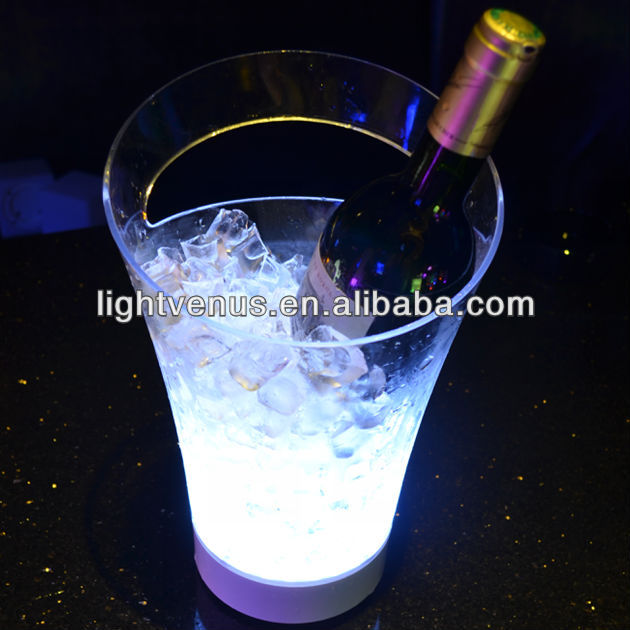 Durable PC material unique design belvedere vodka bottle ice bucket