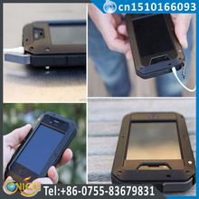 Original Shockproof Mobile Phone Metal Case For iphone 4 4S 5 5C 5S SE 6 6S Plus covers +Tempered glass