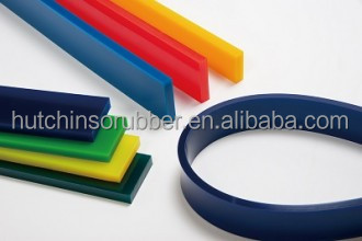 Polyurethane glass cleaning squeegee rubber