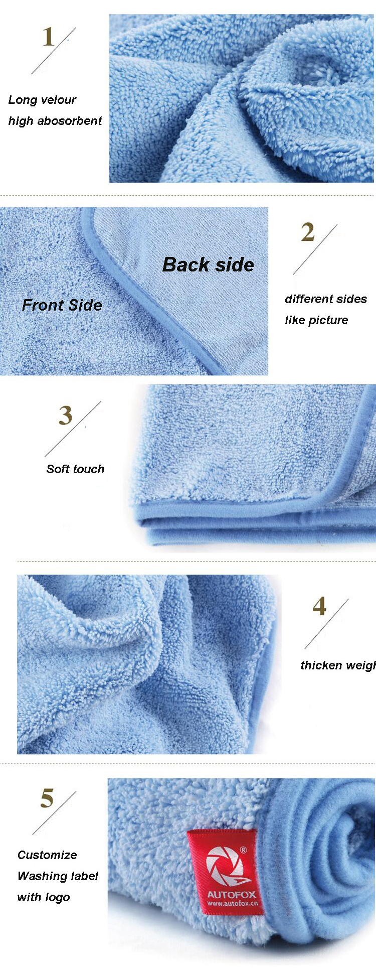 high quality microfiber cleaning towel/microfiber towel for car cleaning