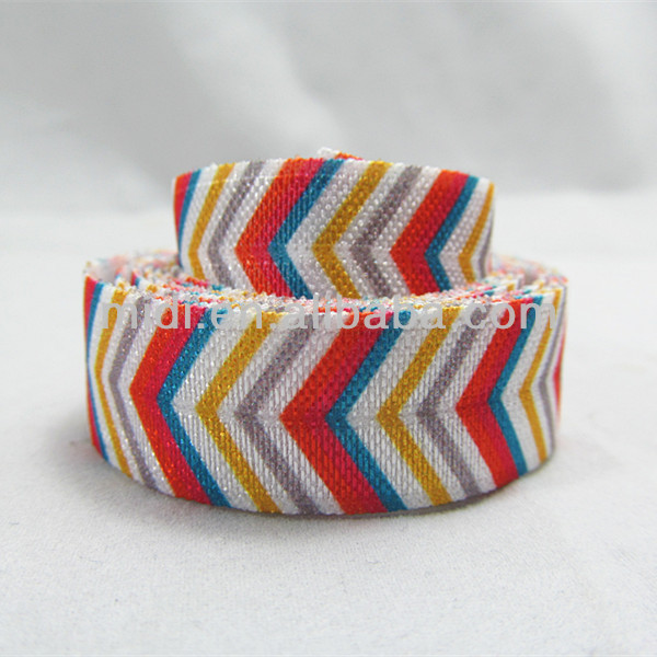 5/8 nylon striped elastic ribbon