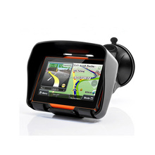 2016 most popular 4.3 inch touch screen car gps with europe maps bluetooth and multimedia players