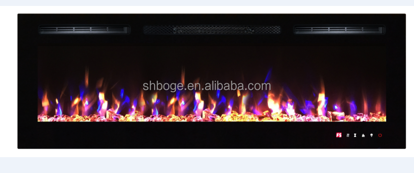 "55"""" new insert electric faux electric fireplace with log"