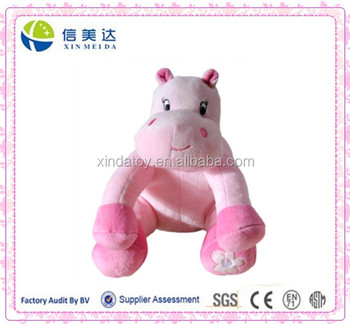 Pink hippo plush toy