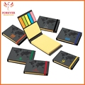 5 colors Eco Sticky Notes With World Map Cover Design 75 Sheets Sticky Flags With Elastoc Closure