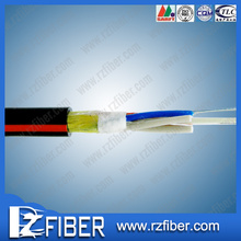 Alibaba express OD 9.0 PE compound steel central strength member fiber optic cable