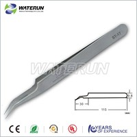 high precision curved tweezers stainless steel material