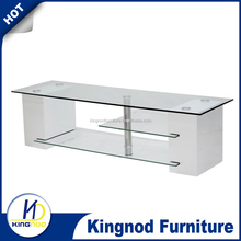 tempered glass top and MDF TV cabinet