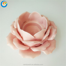 Flower shaped tealight ceramic lotus flower candle holder wholesale