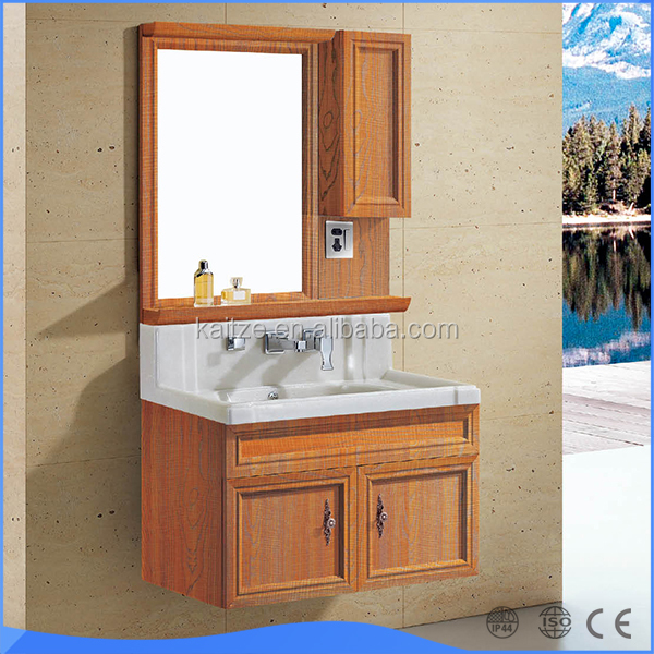 Factory direct ceramic Wash Hand Basin Cabinet LED Mirror With Light
