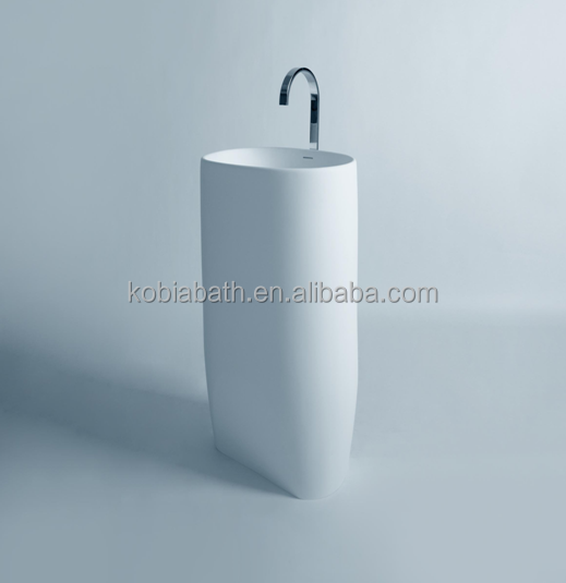 <strong>K</strong>-F08 Solid surface <strong>100</strong>%pure acrylic freestanding basin hand wash basin price
